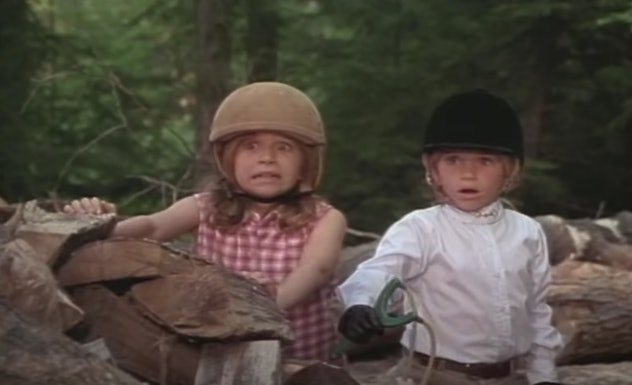 Mary Kate and Ashley Olsen star in the 1995 film, 'It Takes Two.'