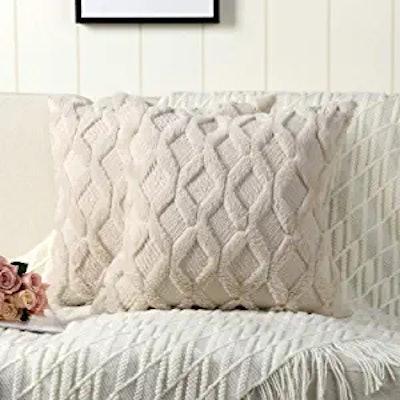 Madizz Short Wool Velvet Throw Pillow (Pack of 2)