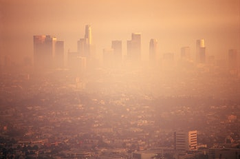 Smog over city of Los Angeles