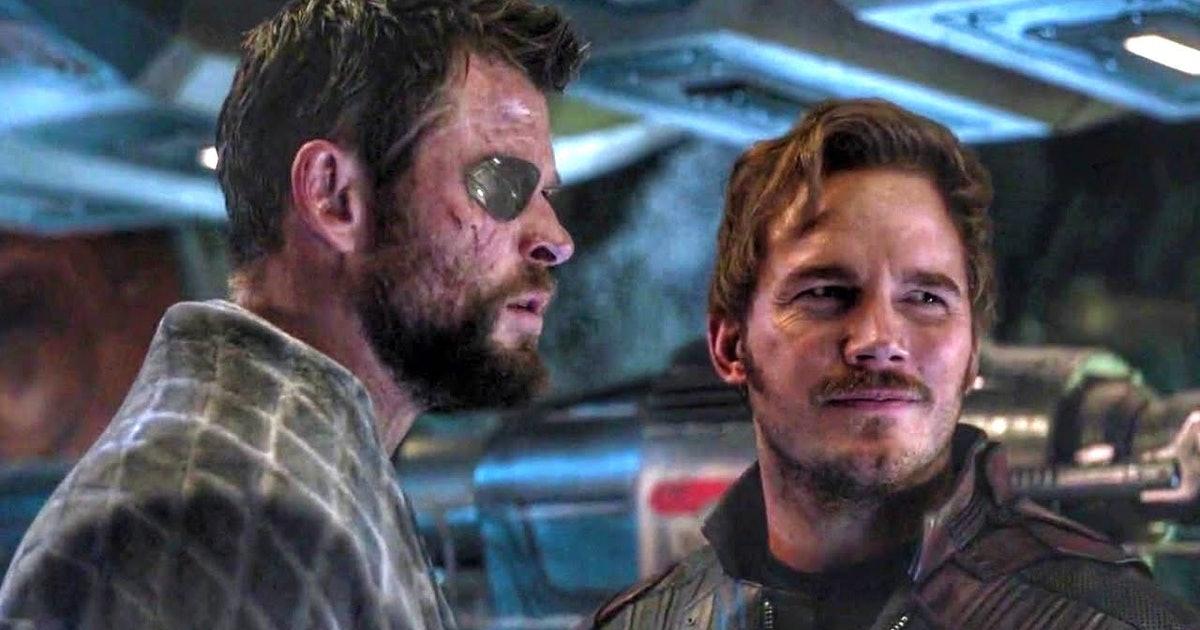 Chris Hemsworth and Chris Pratt in Avengers Endgame