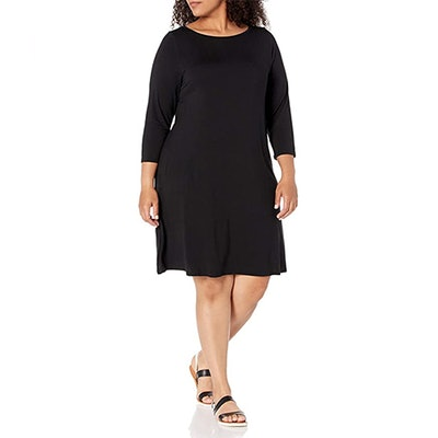 Amazon Essentials Plus-Size 3/4 Sleeve Boatneck Dress