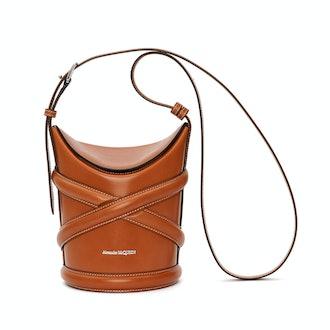 Alexander McQueen The Curve Small Hobo Bucket Bag