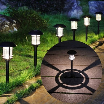 MAGGFIT Outdoor Solar Path Lights (6-Pack)