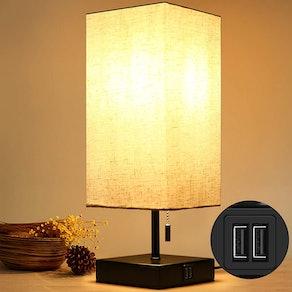 HOKEKI Bedside Table Lamp