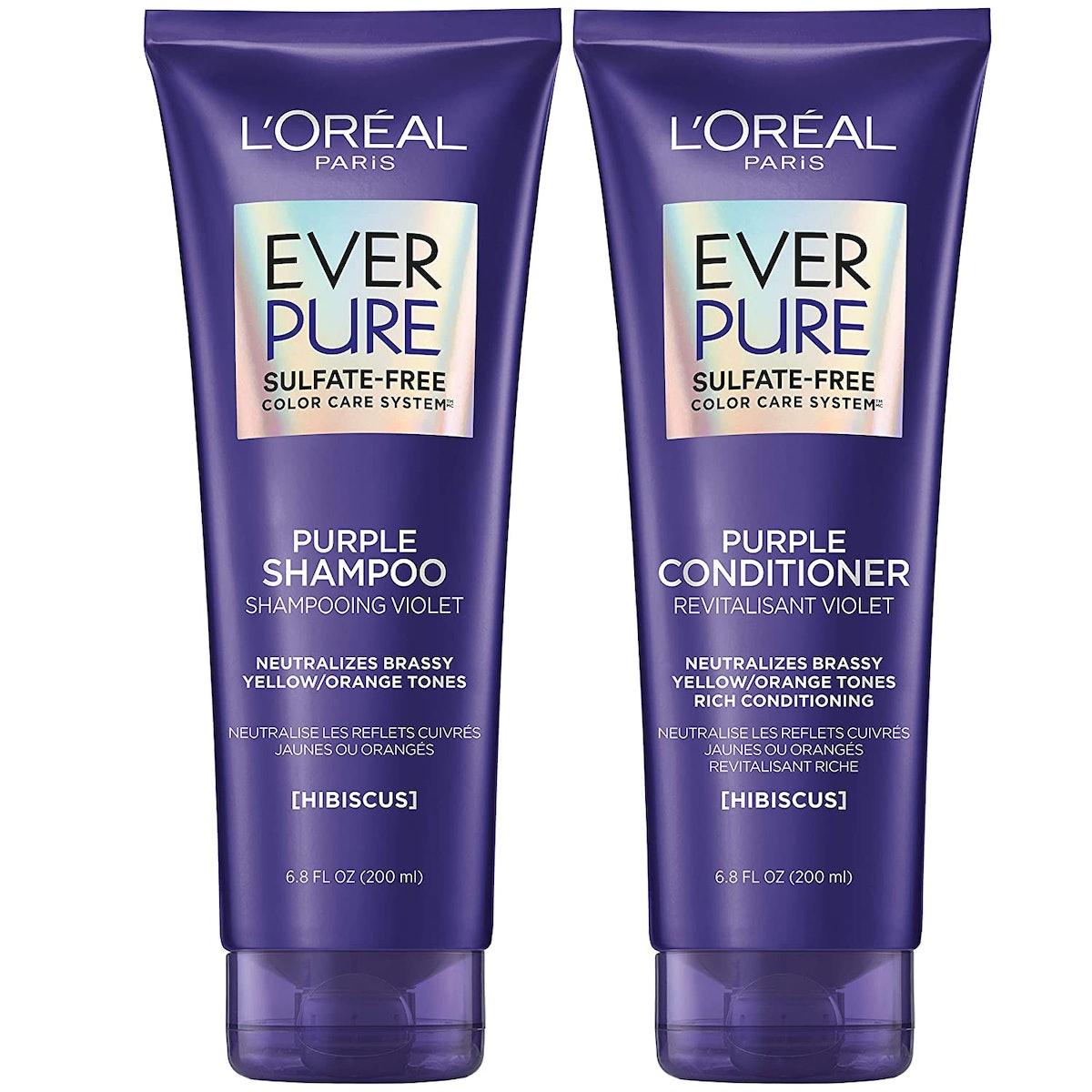 L'Oreal Paris EverPure Sulfate-Free Purple Shampoo & Conditioner (Set of 2)