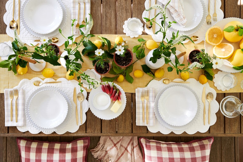 summer table setting West Elm Heather Taylor Home