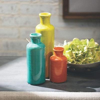 Sullivans Farmhouse Ceramic Vases (Set of 3)