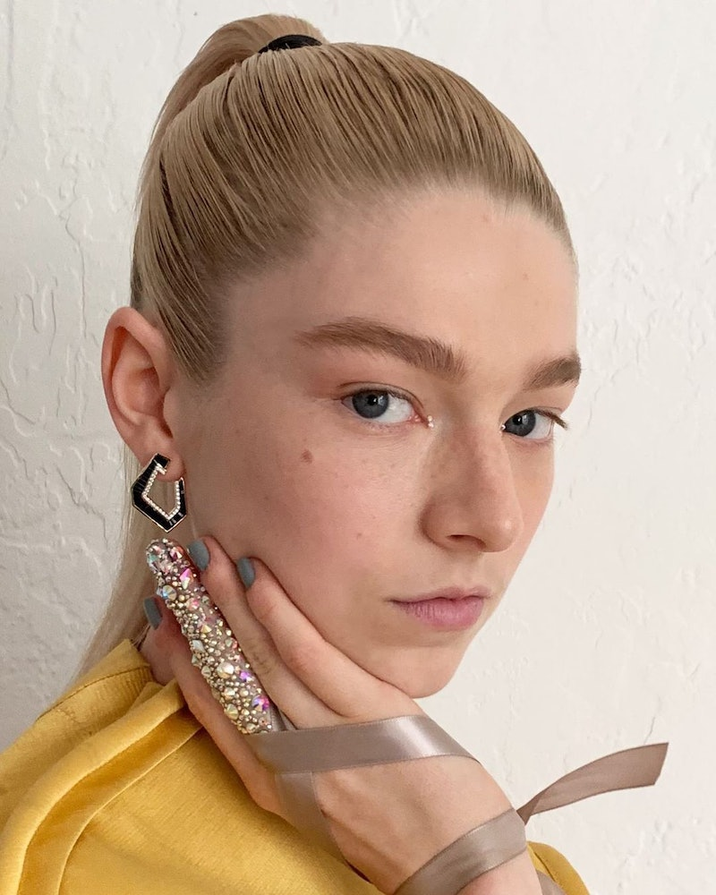 Hunter Schafer's beauty look products.