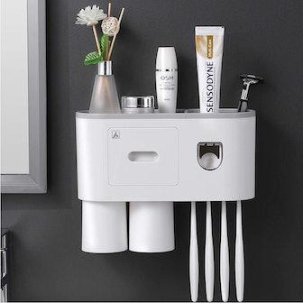 Aeakey Toothbrush Holder & Dispenser