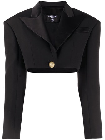 Cropped Single-Breasted Blazer