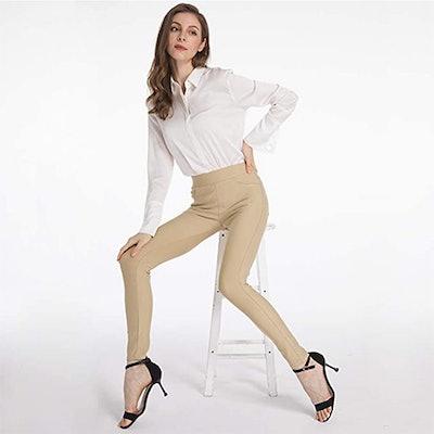 Ginasy Ponte Pull-On Dress Pants