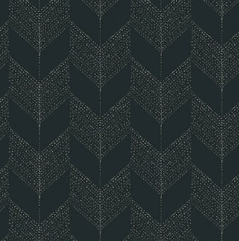 Chevron - Black - Organic Wallpaper Collection