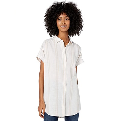 Goodthreads Washed Cotton Short-Sleeve Tunic