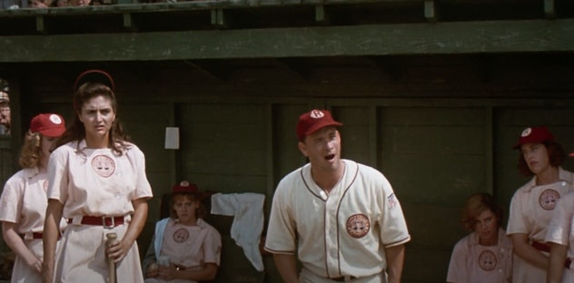 Tom Hanks stars in the 1992 film, 'A League of Their Own.'
