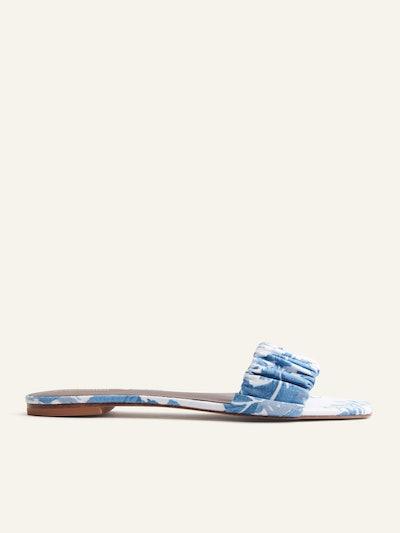 Marcella Ruched Flat Slide