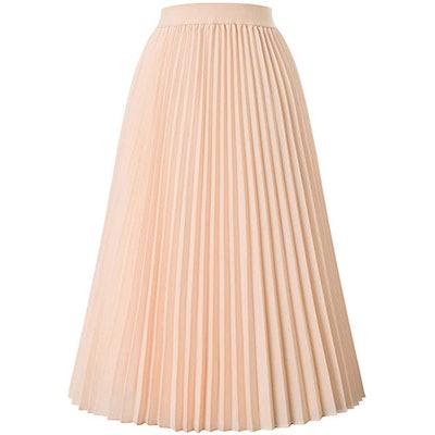 Kate Kasin Pleated Midi Skirt