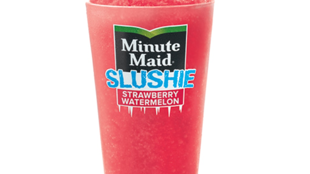 McDonald's Minute Maid Strawberry Watermelon Slushie is available for a limited time.