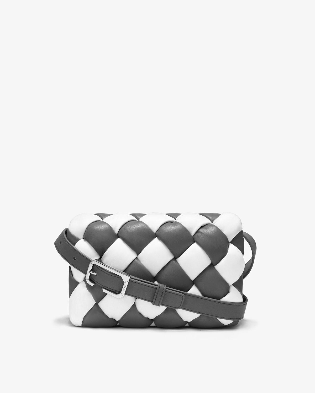 Maze Bag in White & Dark Gray