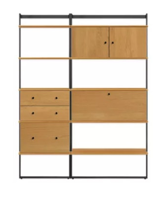 Beam Bookcase Wall Unit With Desk
