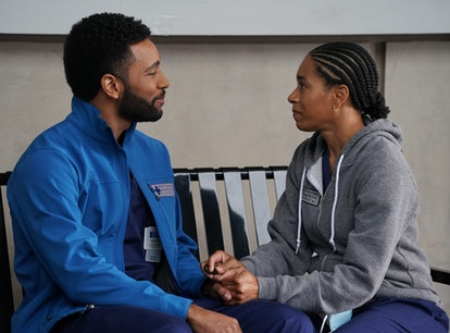 Kelly McCreary as Maggie Pierce and Anthony Hill as Winston Ndugu in 'Grey's Anatomy' Season 17.