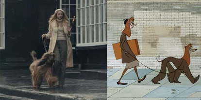 One moment in 'Cruella' references the opening scene of '101 Dalmatians.'