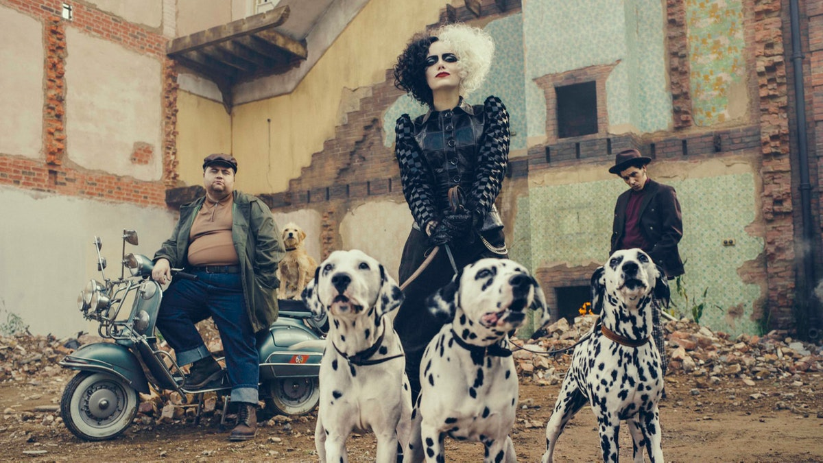 Emma Stone stars as the titular dalmatian-hating Disney villain in 'Cruella.'
