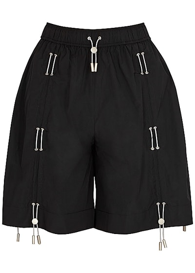 For Summer 2021, swap your go-to sweatpants for these comfortable black shell lounge shorts from Ang...