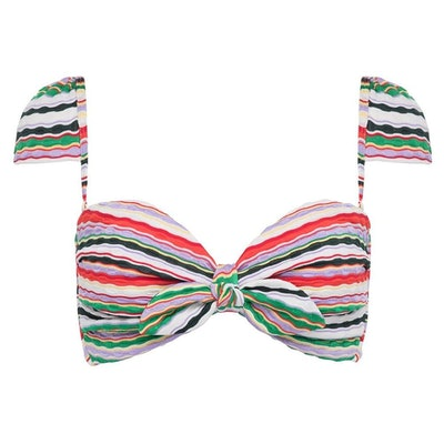 Mer Stripe Cabana Bikini Top