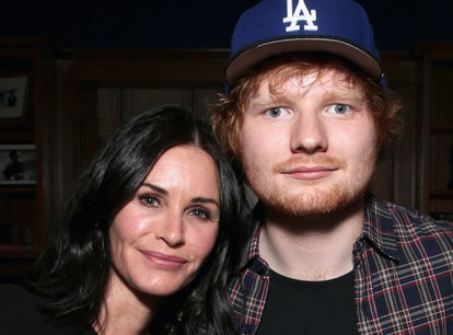 Courteney Cox and Ed Sheeran recreated a scene from Friends