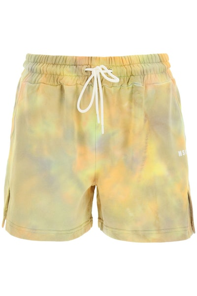 For Summer 2021, swap your go-to sweatpants for these comfortable tie-dye lounge shorts from MSGM.