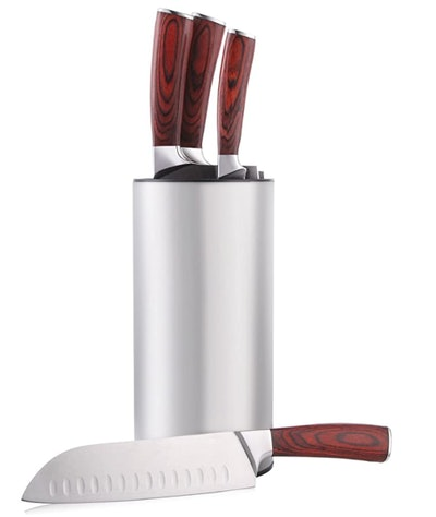 HIWARE Stainless Steel Knife Block