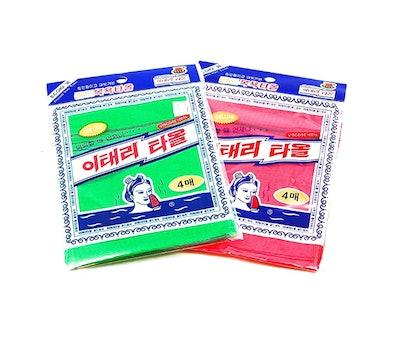 FOUBA Asian Exfoliating Bath Washcloth (8-Pack)