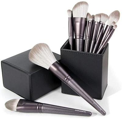 MAANGE Makeup Brushes with Holder (14-Piece)
