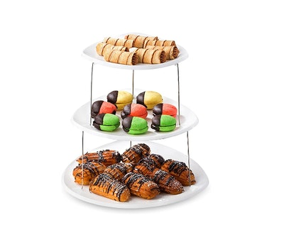 Masirs 3-Tier Collapsible Party Tray