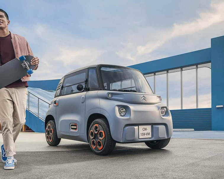 Citroën Ami, a small electric car, may reach U.S. shores through new on-demand subscription service.