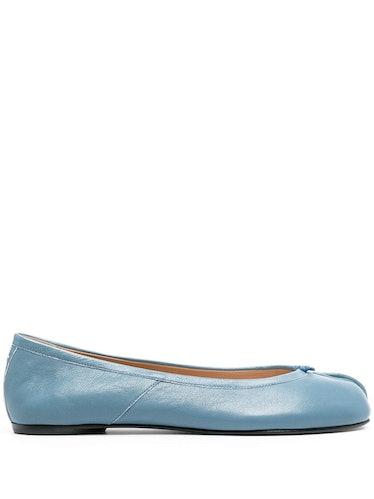 Tabi Toe Ballerina Shoes in Blue
