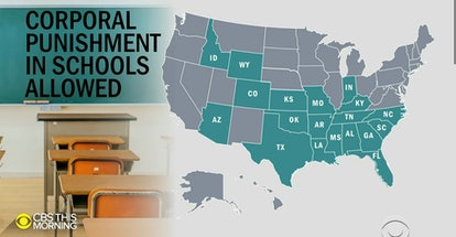 Corporal punishment is legal in 19 states, but is usually determined by individual school districts.