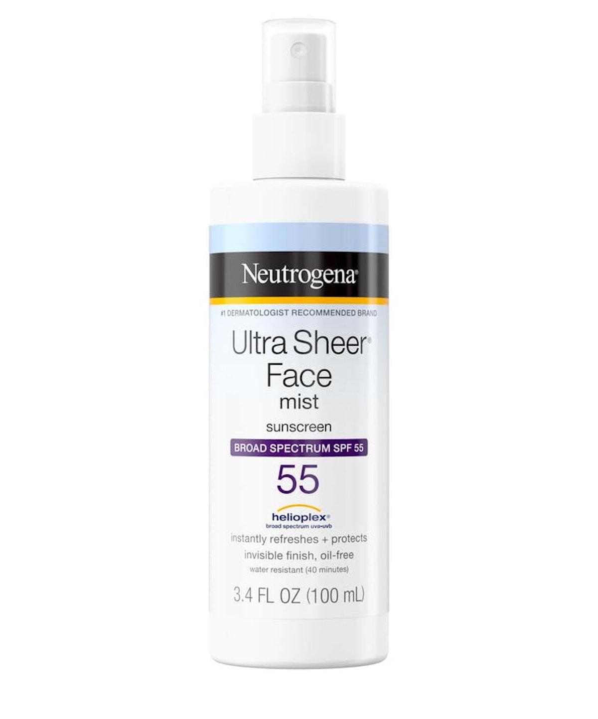 Ultra Sheer Face Mist Sunscreen Broad Spectrum SPF 55