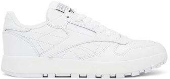 White Reebok Edition Classic Leather Tabi Sneakers