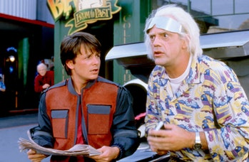 Marty McFly and Doc Brown in Back to the Future Part 2