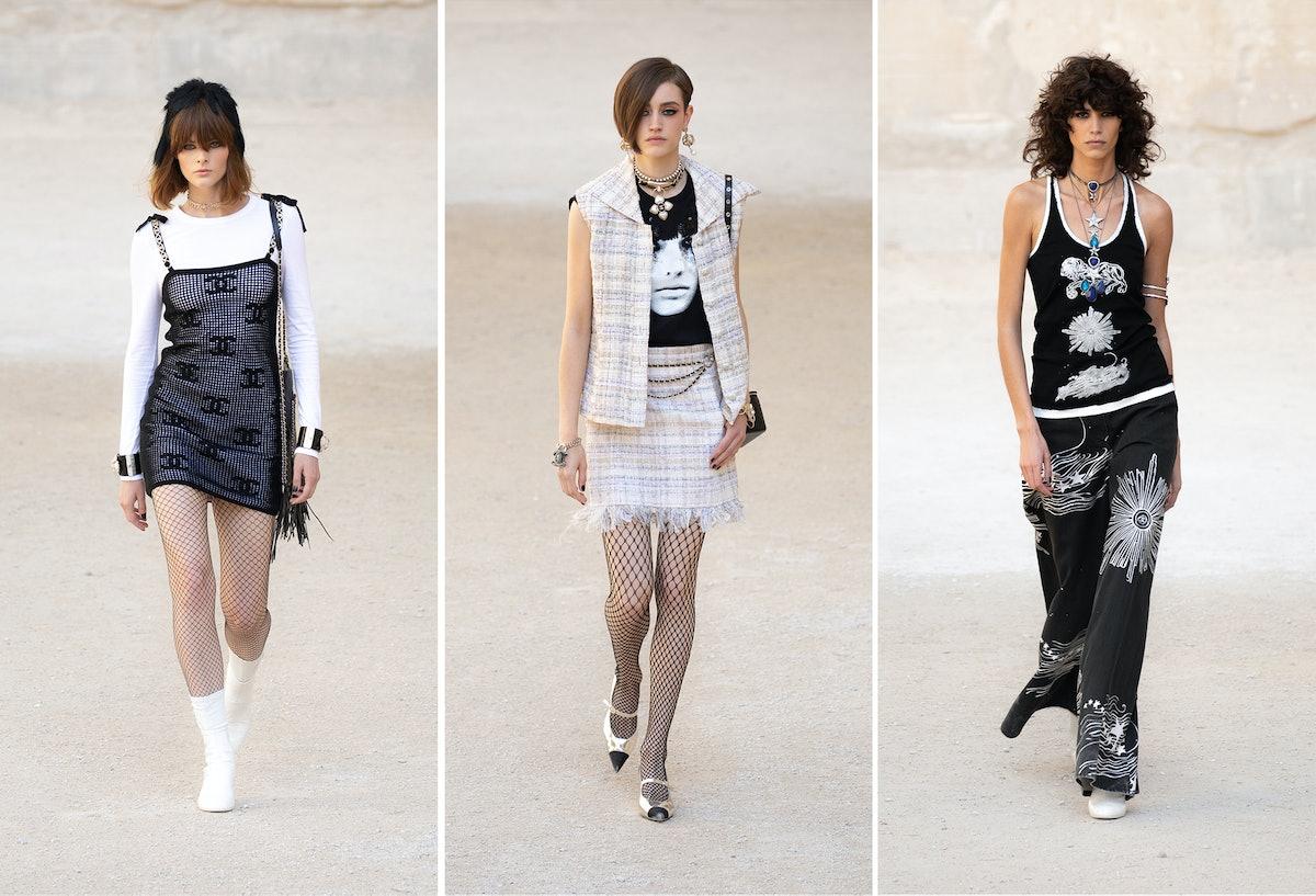 Three Chanel models