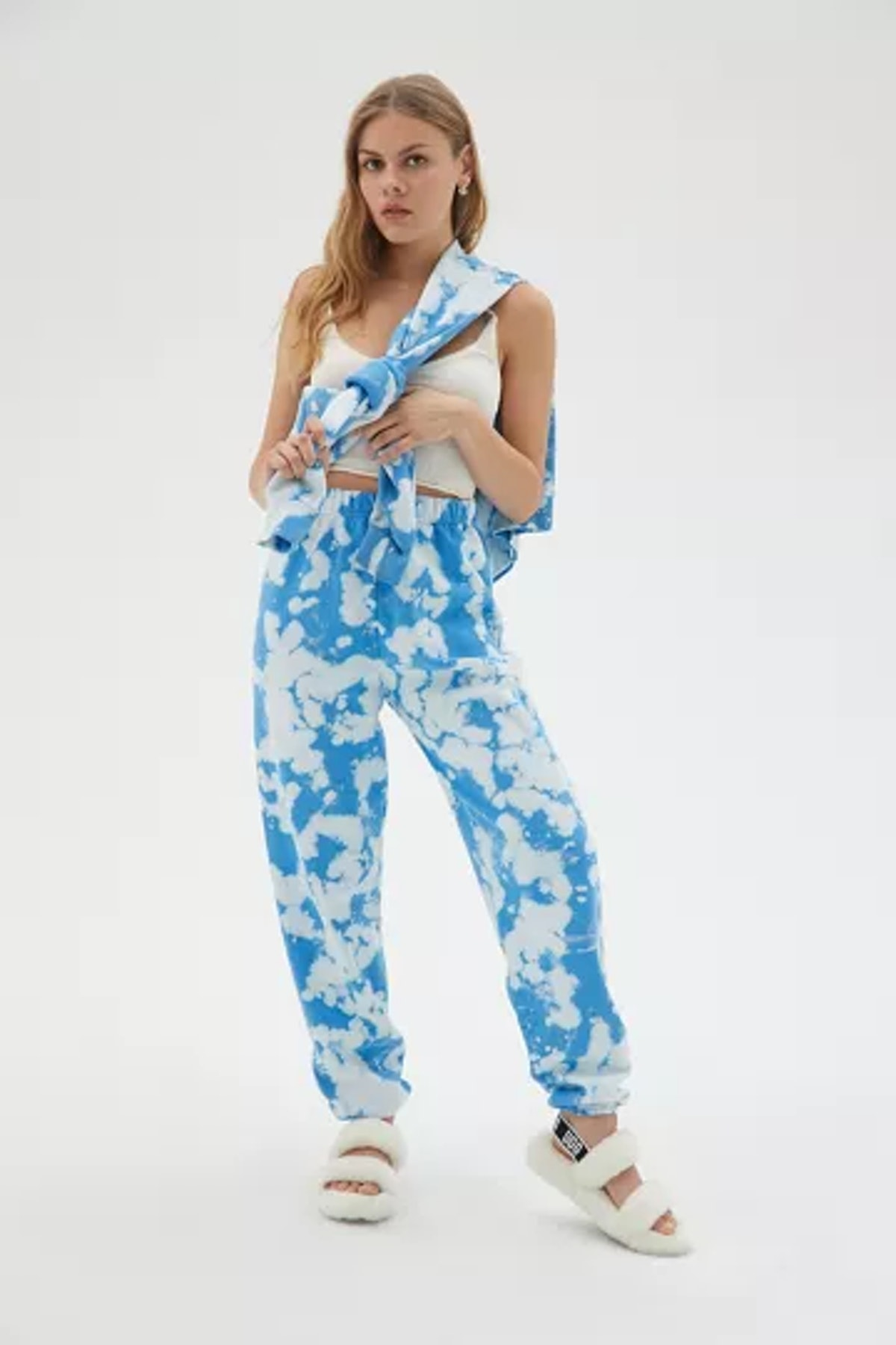 Urban Renewal Recycled Fluffy Clouds Tie-Dye Sweatpant