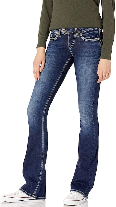 Silver Jeans Co. Tuesday Low-Rise Slim Bootcut Jeans