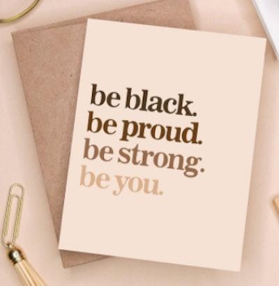 blklane Be Black. Be Proud. Card