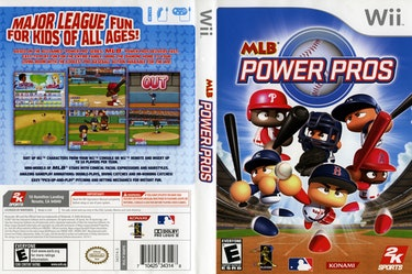 The cover art for 'MLB Power Pros'