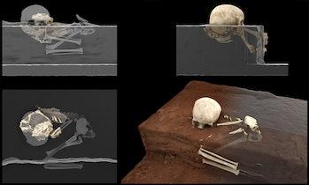 Virtual reconstruction of Panga ya Saidi child remains