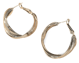 Shell Hoops - Silver