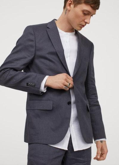 Slim Linen Fit Blazer