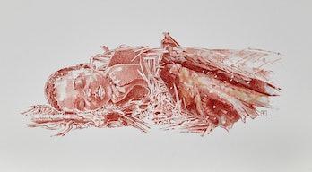Reddish artistic illustration of Mtoto