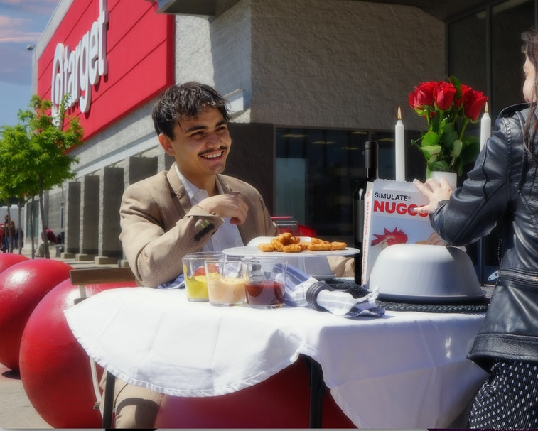 Plant-based food brand Simulate is hosting a competition to host a lavish dinner at a Target store.